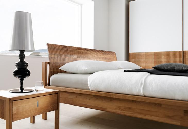valore bett holzhaupt mit relief 180 x 200 betten valore serie schlafen team 7. Black Bedroom Furniture Sets. Home Design Ideas