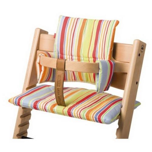 sitzkissen art streifen bunt sitzkissen stokke hochstuhl tripp trapp kinder stokke. Black Bedroom Furniture Sets. Home Design Ideas