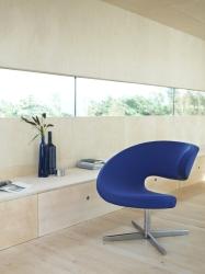 einrichten f rs leben ludwig krenn relaxsessel club stoff orange schwarz. Black Bedroom Furniture Sets. Home Design Ideas