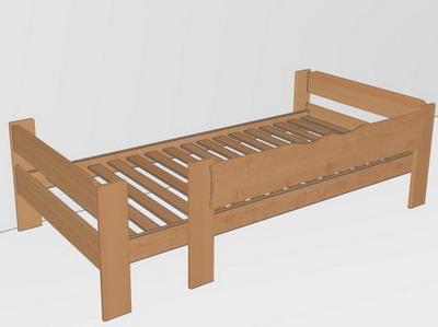 team7 einzelbett mit br stung 100 x 200 kind betten. Black Bedroom Furniture Sets. Home Design Ideas