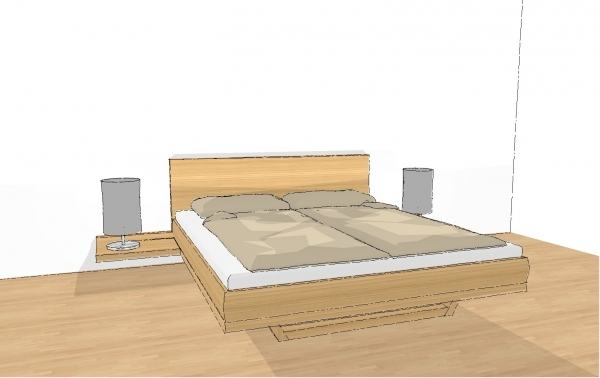 riletto bett holzbettseiten holzhaupt mit konsole 160 x 200 schlafen riletto betten. Black Bedroom Furniture Sets. Home Design Ideas