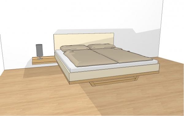 riletto bett mit lederbettseiten polsterhaupt mit konsole 180 x 200 cm schlafen riletto. Black Bedroom Furniture Sets. Home Design Ideas