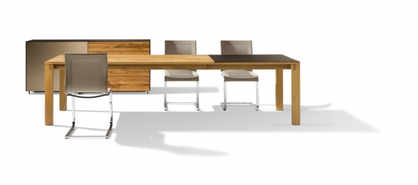 Magnum Auszugtisch 175x100 cm Holz + 100 cm Keramik
