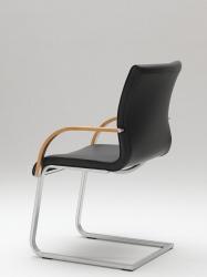 magnum freischwinger leder mit armlehne essen st hle. Black Bedroom Furniture Sets. Home Design Ideas